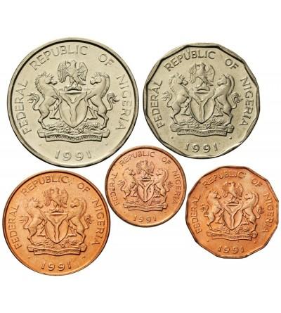 Nigeria 1, 10, 25, 50 Kobo 1 Naira 1991