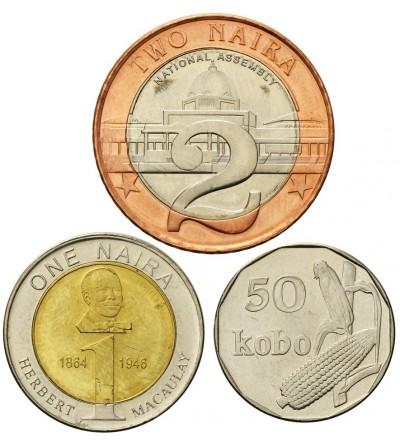 Nigeria 50 Kobo 1, 2 Naira 2006