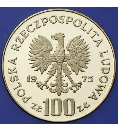 Poland 100 zlotych 1975, Royal castle in Warsaw