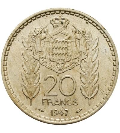 Monako 20 franków 1947
