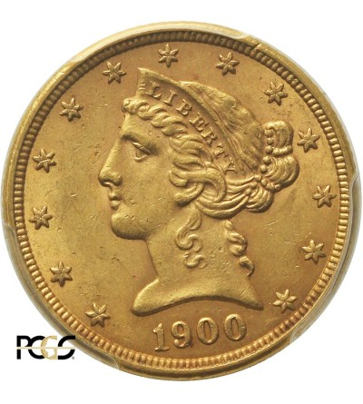 USA 5 Dollars 1900, Philadelphia - PCGS MS 62