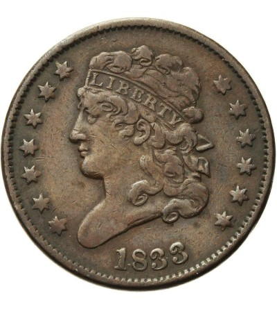 USA 1/2 centa 1833