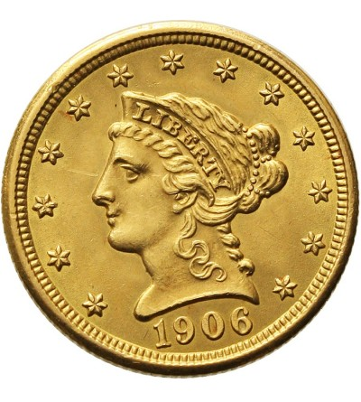 USA 2 1/2 dolara 1906