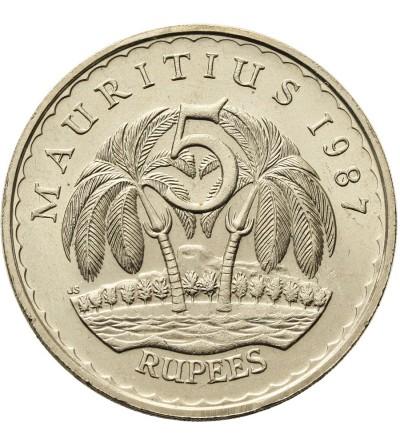 Mauritius 5 rupii 1987