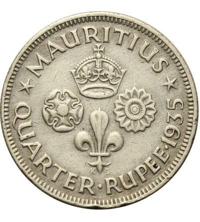 Mauritius 1/4 rupii 1935