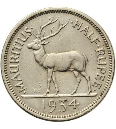 Mauritius 1/2 rupii 1934