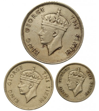 Mauritius 1/4, 1/2, 1 Rupee 1950-1951