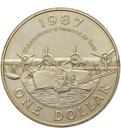 Bermudy 1 dolar 1987