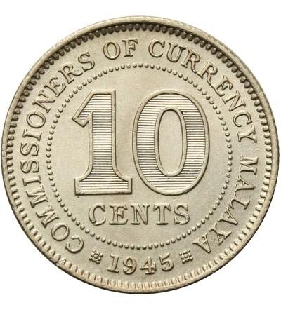 Malaje Brytyjskie 10 centów 1945