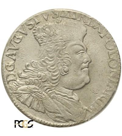 Ort 1756 EC, Leipzig. PCGS MS 64