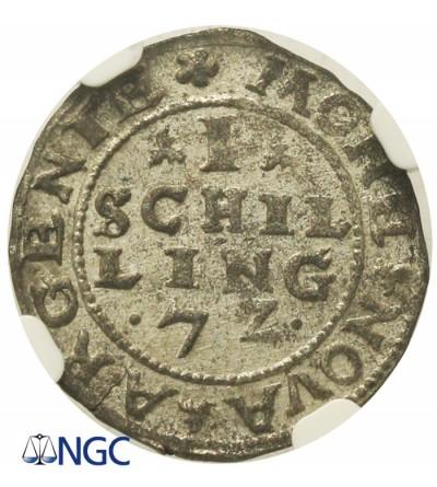 Szeląg 1572, Dalholm. NGC AU 58