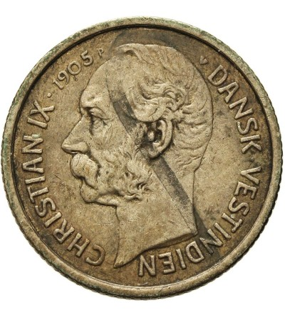 Danish West Indies 5 Cents (50 Bit) 1905