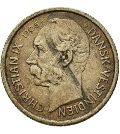 Duńskie Indie Zachodnie 5 centów (50 bit) 1905