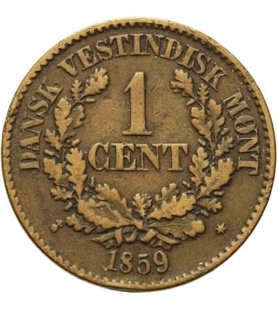 Duńskie Indie Zachodnie 1 cent 1859