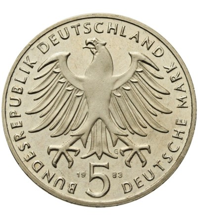Germany 5 Mark 1983 G, Martin Luther