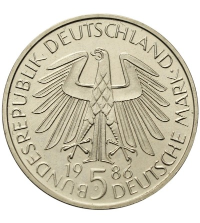Germany 5 Mark 1986 D, Heldberg University
