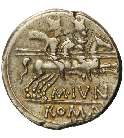 Rzym Republika. AR Denar Junius Silanus 145 r. p.n.e.
