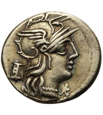 The Roman Republic. AR Denarius M. Marcius Mn.f. 134 BC