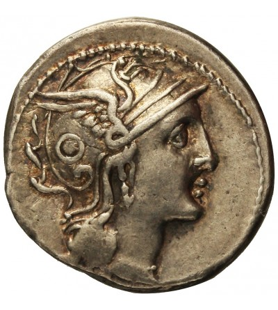 The Roman Republic. AR Denarius C. Claudius Pulcher 110-109 BC