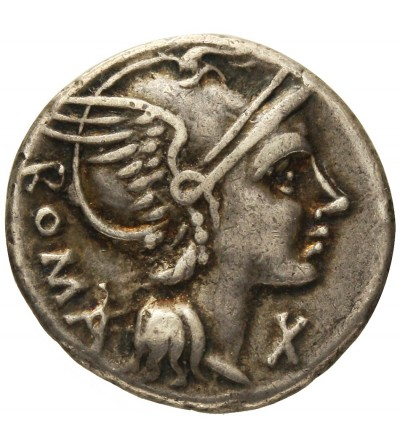 The Roman Republic. AR Denarius L. Flaminius Chilo 109-108 BC