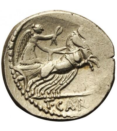 Rzym Republika. AR Denar T. Carisius 46 r. p.n.e.