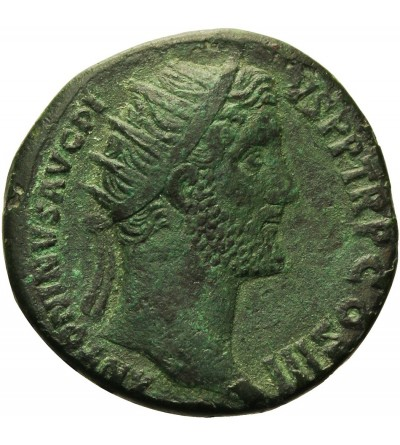 Antoninus Pius with Marcus Aurelius as Caesar 138-161. AE Dupondius, Rome.