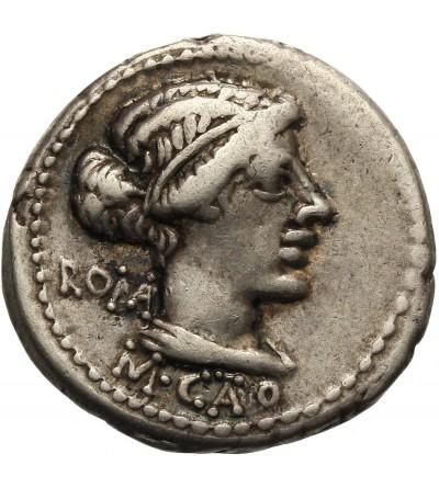 The Roman Republic. AR Denarius M. Porcius Cato 89 BC