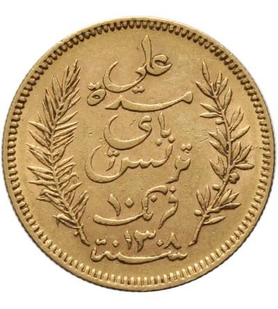 Tunezja 10 franków 1891 A