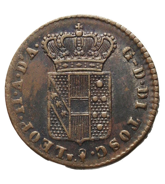 Włochy. Toskania. Quattrino 1843