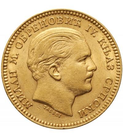 Serbia 20 dinara 1879