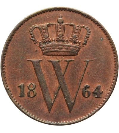 Holandia 1 cent 1864, Utrecht