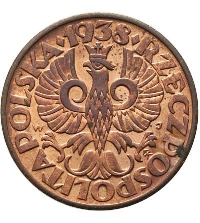 Poland 5 Groszy 1938, Warsaw mint