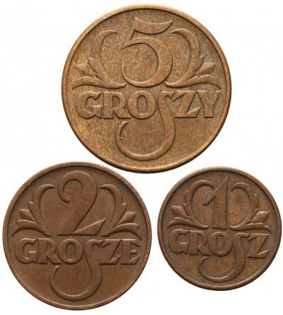 1, 2, 5 groszy 1938, Warszawa
