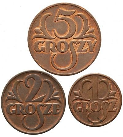 1, 2, 5 groszy 1939, Warszawa