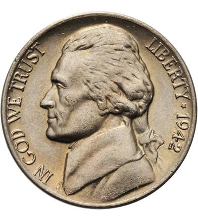 USA 5 centów 1942