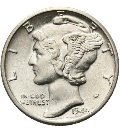 USA 10 Cents ( Mercury Dime ) 1944 D