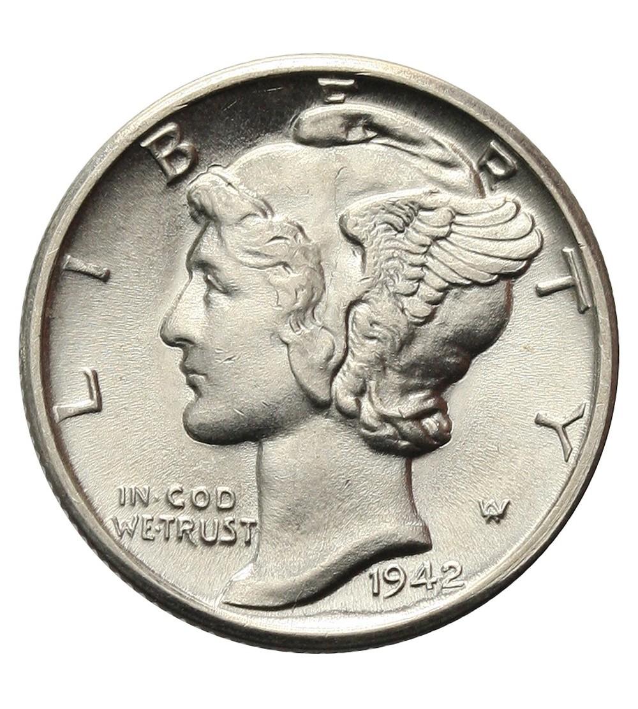 USA 10 centów ( Mercury Dime ) 1942 D