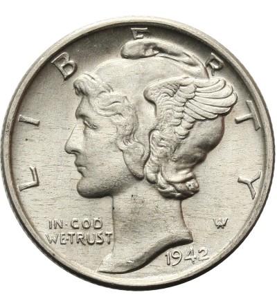 USA 10 centów ( Mercury Dime ) 1942