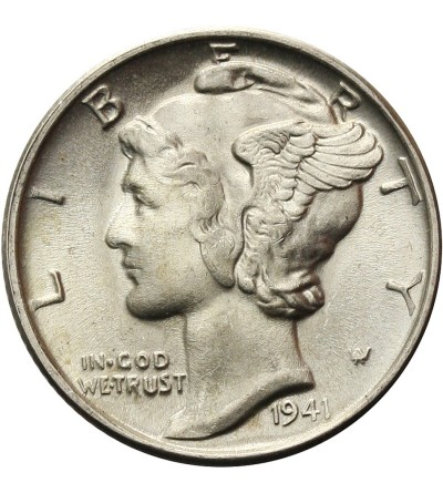 USA 10 Cents ( Mercury Dime ) 1941