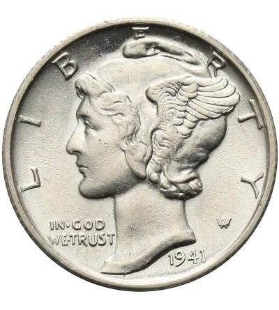 USA 10 Cents ( Mercury Dime ) 1941 S