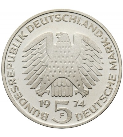 Germany 5 Mark 1974 F, 25th Anniversary Constitutional