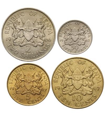 Kenia 5, 10, 50 centów 2 szylingi 1966-1967