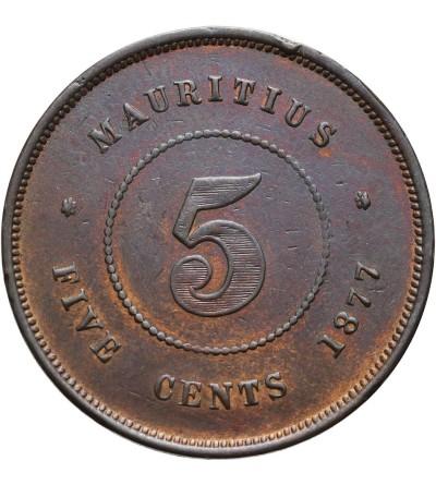 Mauritius 5 centów 1877 H