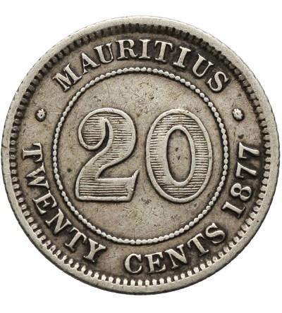Mauritius 20 centów 1877 H