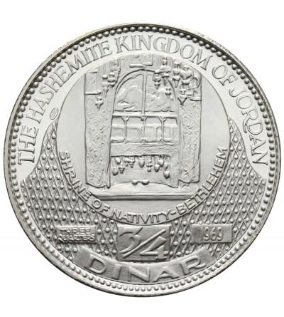 Jordania 3/4 dinara AH 1389/1969