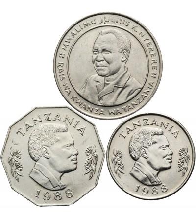 Tanzania 1, 5, 10 Shilingi 1988