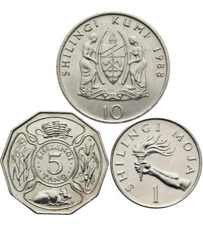 Tanzania 1, 5, 10 szylingów 1988