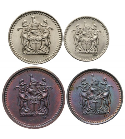 Rodezja 1/2, 1, 5, 10 centów 1970, 1973