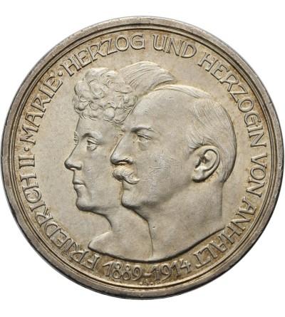 Anhalt 3 marki 1914 A srebrne gody