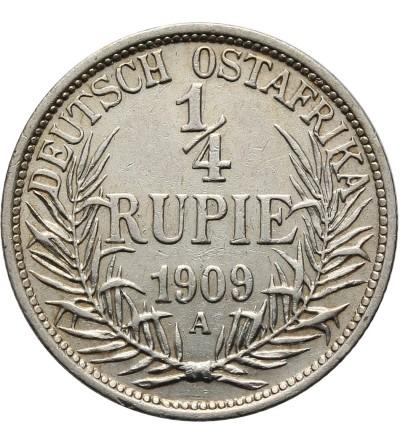 Niemiecka Afryka Wschodnia 1/4 rupii 1909 A
